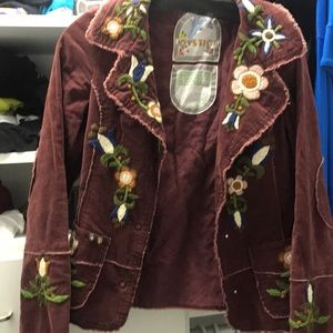 Joystick flower blazer/ jacket.